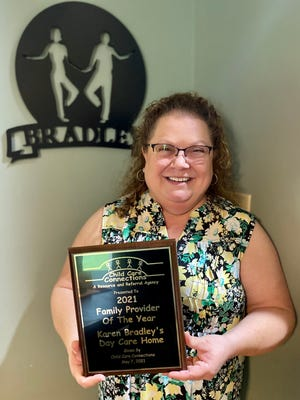 Karen Bradley was recognized as the 2021 family provider of the year by Child Care Connections in Cleveland County.