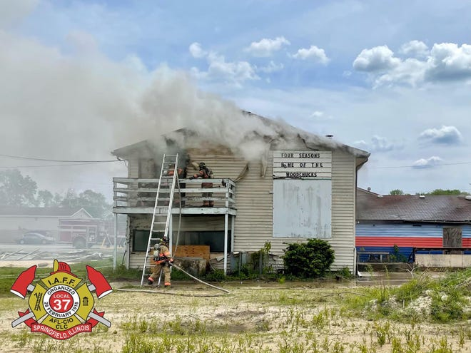 Monday's fire at the former Four Seasons Recreation sports complex on Truman Road. [Springfield Fire Department]