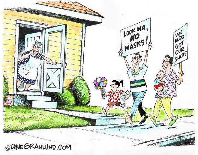 Granlund cartoon: Mother's Day shots. Dave Granlund cartoon on the COVID-19 vaccine and Mother's Day.