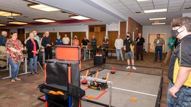 Robotics team the Atomic Gears were featured speakers at this week's local Kiwanis Club meeting.