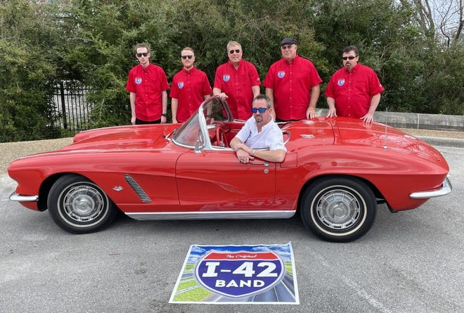 Members of the I-42 Band featuring nationally known recording artist Bryan Mayer of New Bern, are ready to perform at the first installment of the Footloose on the Neuse Summer Concert Series set for Friday, May 14. [CONTRIBUTED PHOTO]