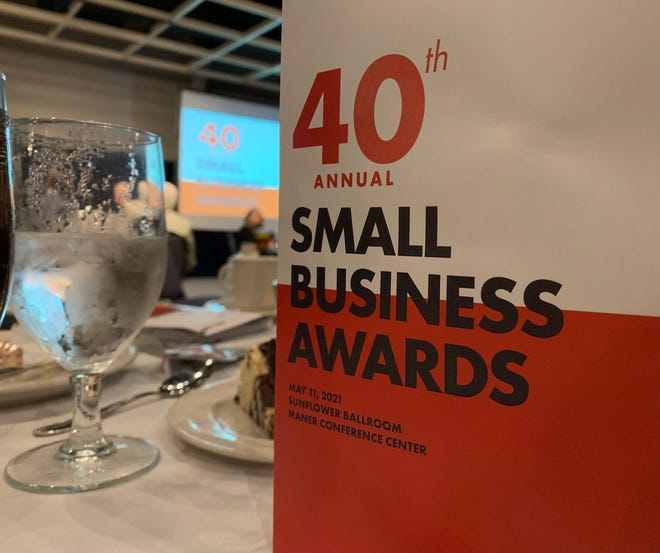 Six local businesses chosen from among 18 finalists received awards during the Greater Topeka Partnership's 40th Annual Small Business Awards reception Tuesday.