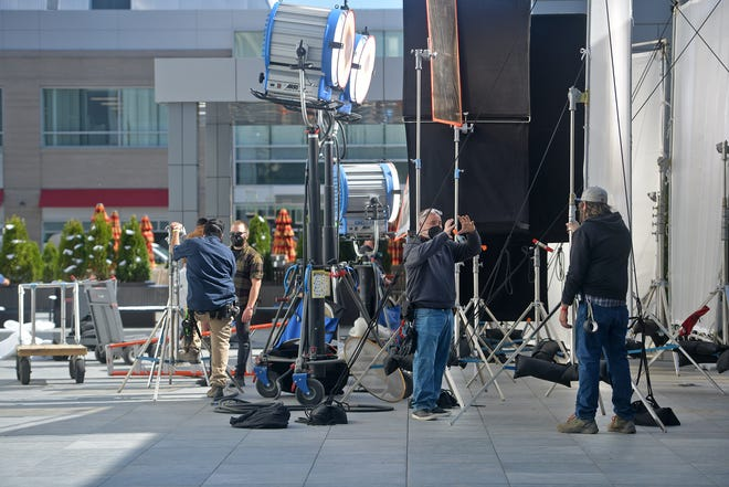 Earlier this month, crews for 'Dexter' set up at the AC Hotel by Marriott.