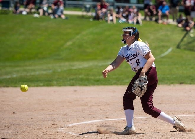 Kya Birtz, shown pitching for Leicester in 2019, has given St. Paul an outstanding 1-2 punch in the circle.