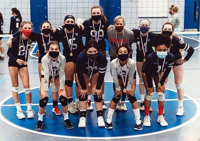 The Liberty Elite Volleyball Club 13u national team won the 2021 Beachfest AAU Super Regional 14u Open division in Ocean City, Md.