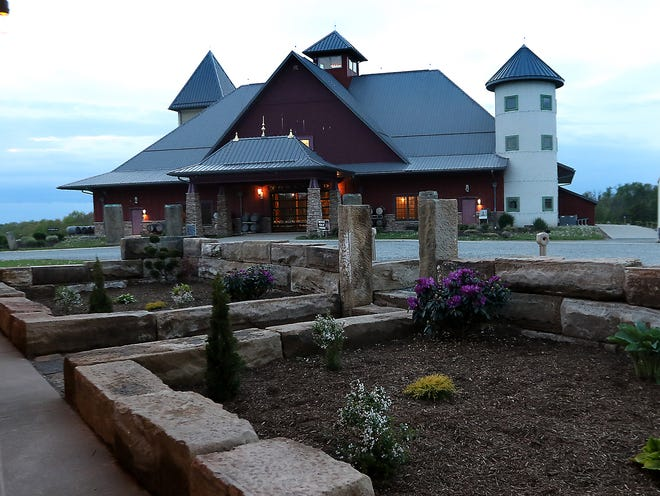 Dusk -- Wine and Fire Bar is scheduled to open May 28 at Breitenbach Winery near Dover. Jim Cummings/Times-Reporter