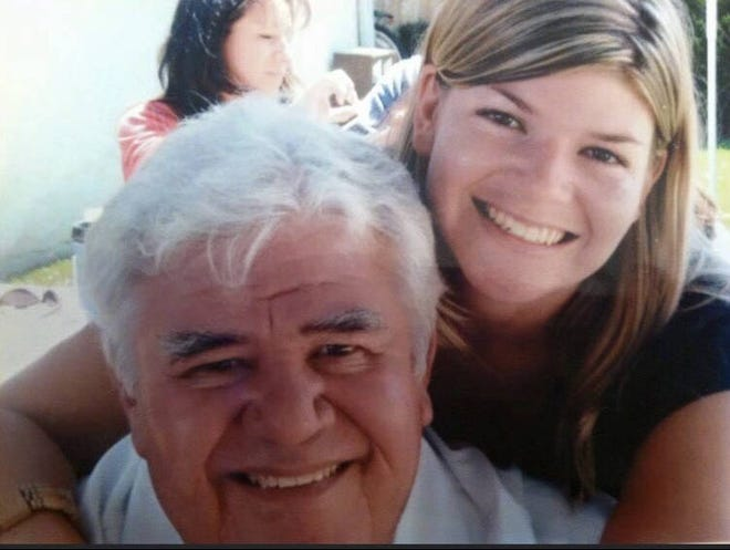 Ray Aguilera and his daughter Andrea Hansen. Aguilera died on Sunday, May 9 following months of declining health after a January heart attack.