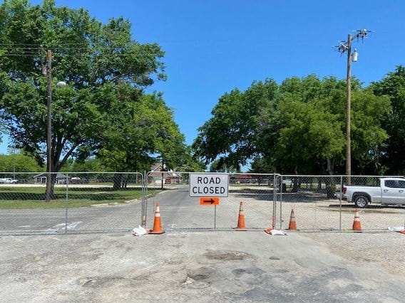 A section of downtown streets have been temporarily closed to facilitate construction of the Central Social District Park