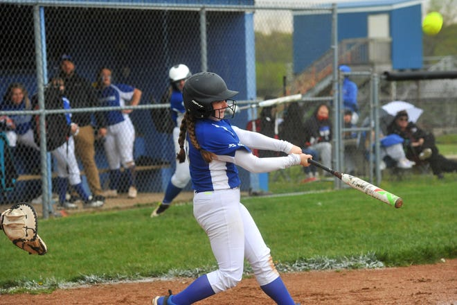 Crestline's Emma Kirby belted two doubles, one single and had a trio of RBIs.