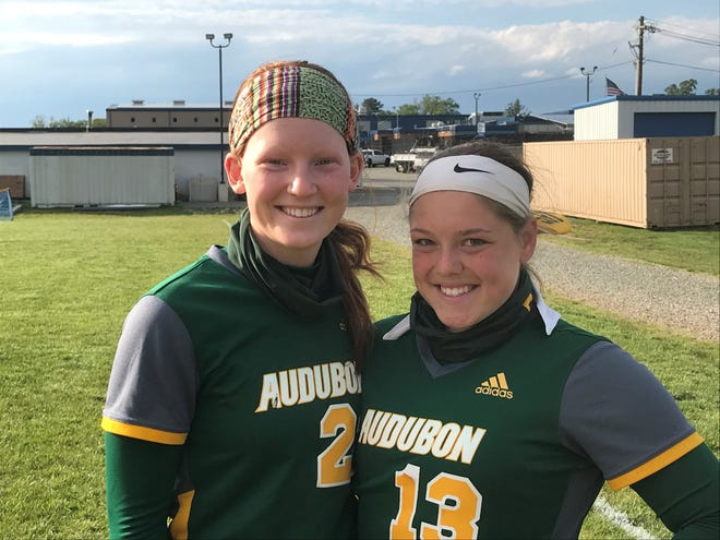 Audubon captains Maeve Lougheed, left, and Olivia Malinowski are two reasons why the Green Wave are rolling with nine straight wins to start the season.