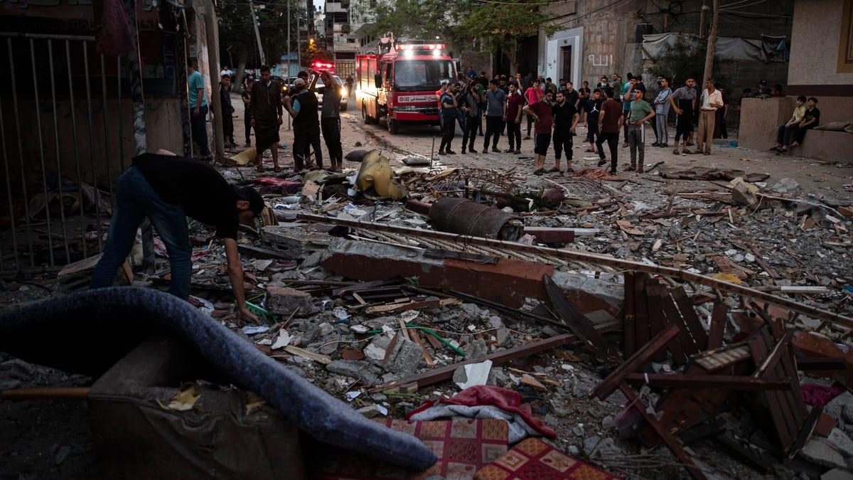 Gaza militants, children among 24 dead as Israel hits Hamas 3