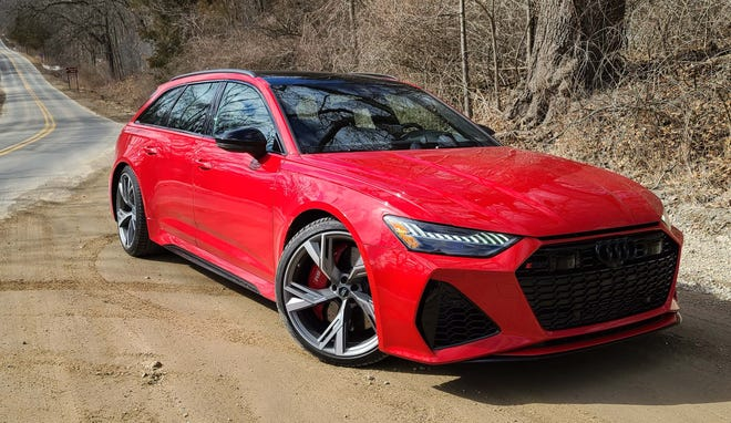 The 2021 Audi RS6 Avant is the Avant wagon's top shelf performance version with a twin-turbo V-8, eight-speed tranny, rear-wheel steer and other goodies.