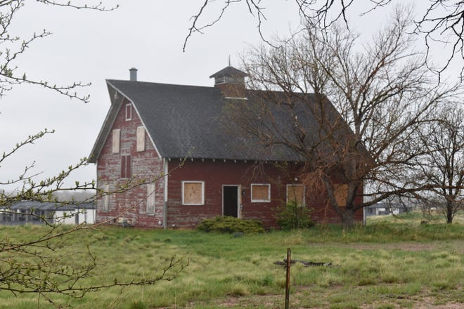 The big red barn at 3733 E. Harmony Road was once part of the Webster family's network of farms in Larimer and Weld counties. It, its fellow outbuildings and acreage are currently for sale.