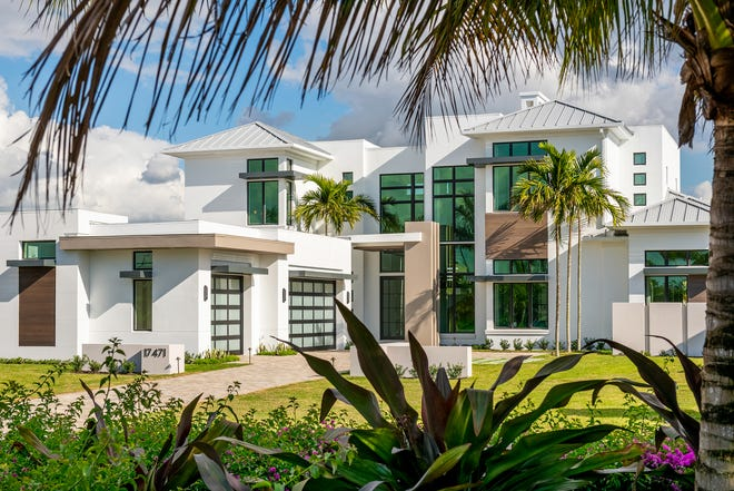 The Lucien is the newest model by Gulfshore Homes. The developer says he is pleased to create a more modern look to this model.