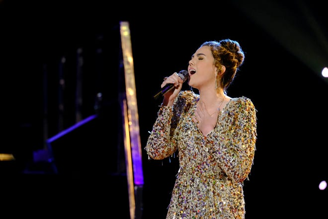 """Milwaukee native Anna Grace covers Passenger's """"Let Her Go"""" on the first live episode of season 20 for """"The Voice"""" on NBC on Monday, May 10, 2021."""