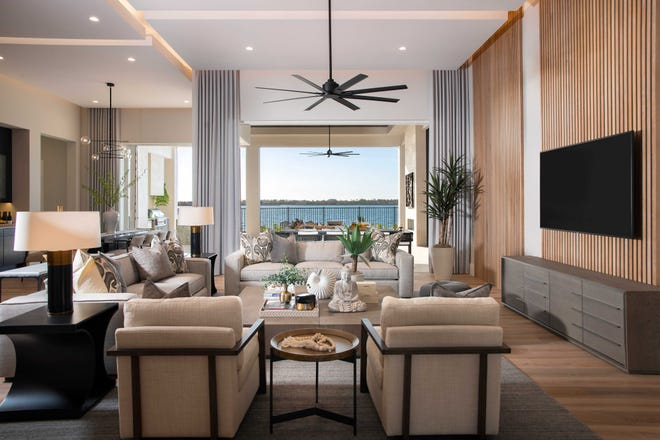 Theory Design has completed the interior of Seagate's furnished Genova model at Esplanade Lake Club in Fort Myers. The Genova model is under contract and still open for viewing.