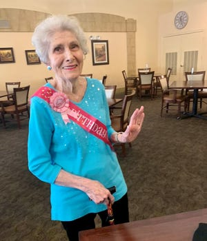 Eleanor Deas, of Mesa, celebrated her 100th birthday with a party on May 7, 2021 at Discovery Point Retirement Community in Mesa.