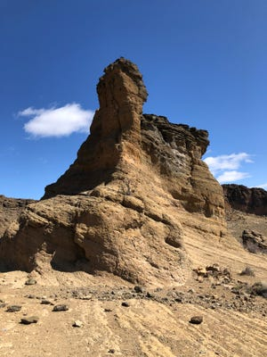 Eroded rock at Fort Rock