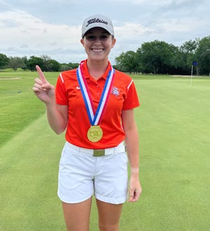 San Angelo Central High School junior Ryann Honea shot 69-74--143 to win the UIL Class 6A girls state golf tournament by one shot at Legacy Hills Golf Club in Georgetown on Tuesday, May 11, 2021.