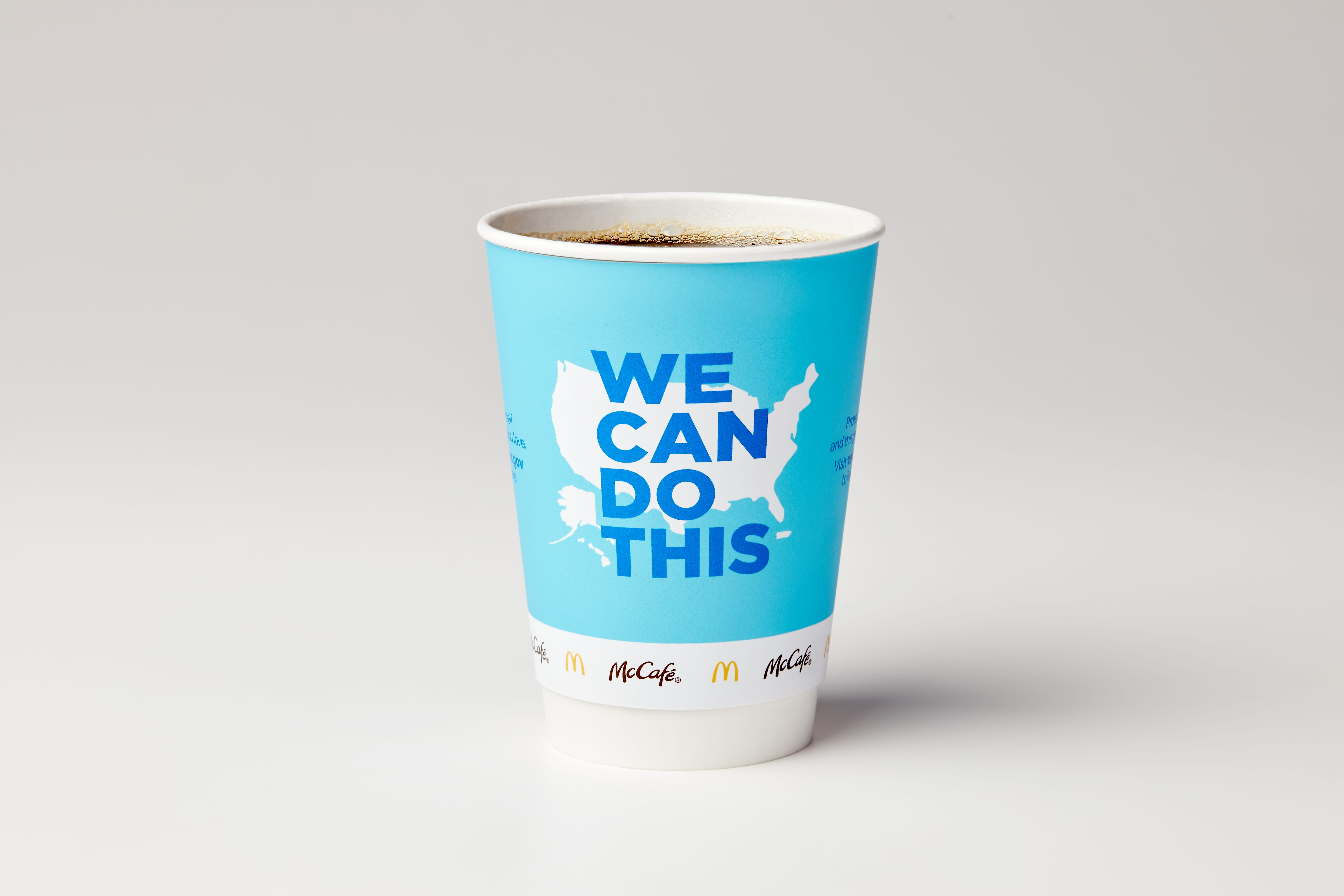 McDonald's bringing COVID-19 vaccine awareness message to coffee cups, Times Square billboard