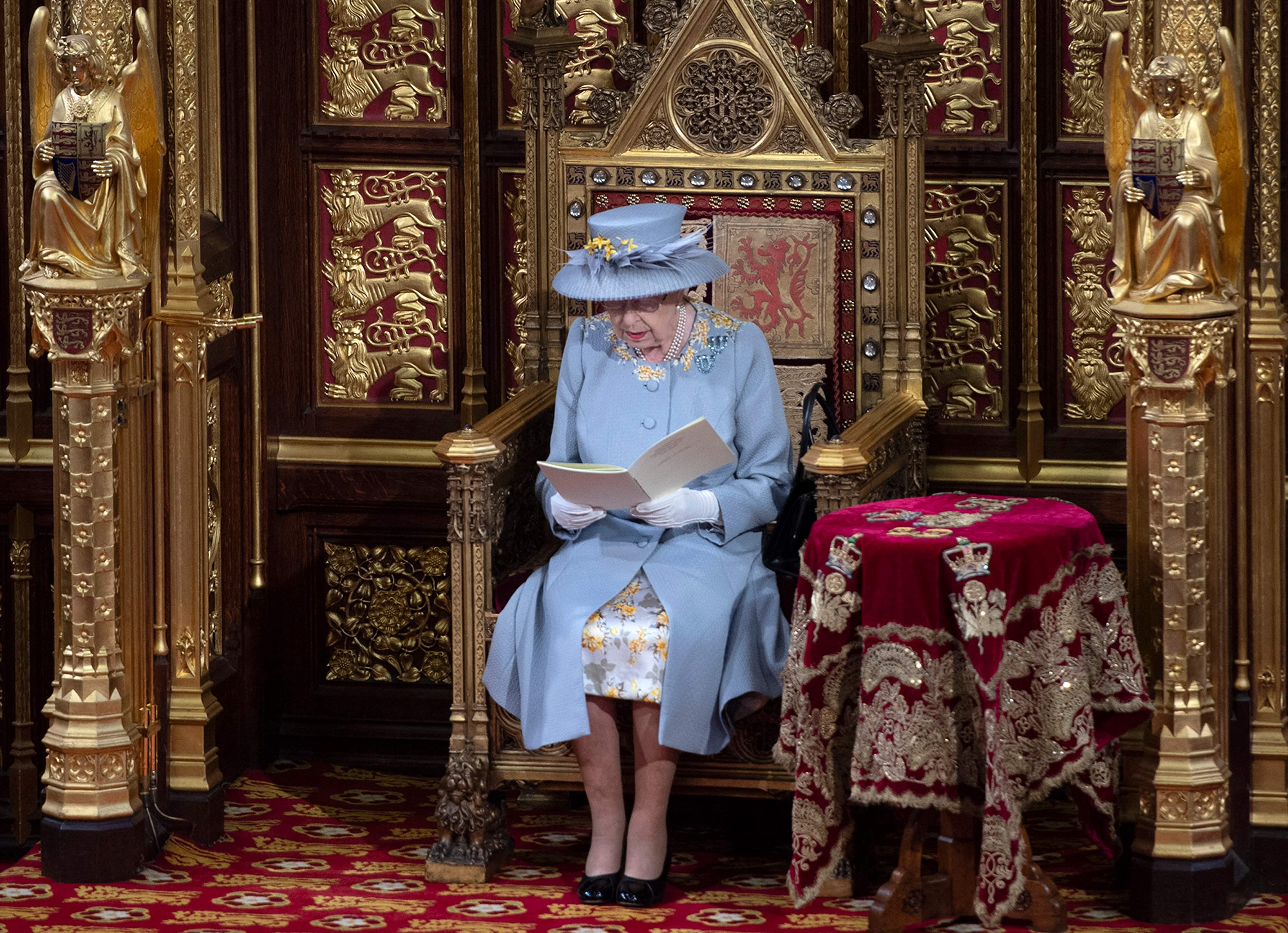 Queen Elizabeth opens Parliament, first duty since Prince Philip death