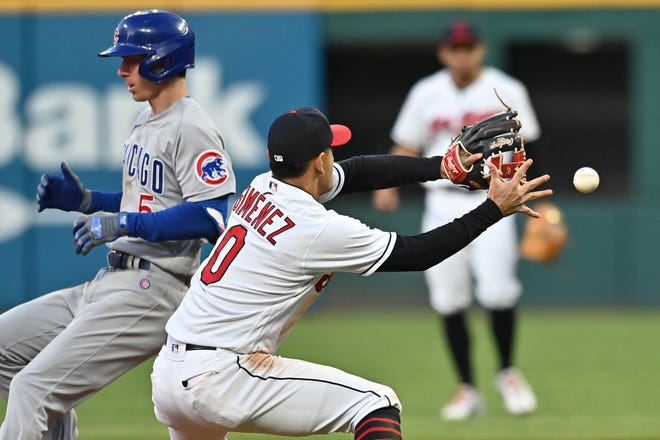 Andres Gimenez (0) is back in the big leagues after spending much of the season at Triple-A. Gimenez was the key player in the trade that sent Francisco Lindor to the New York Mets and could be Cleveland's starting second baseman next season. [USA TODAY Network]