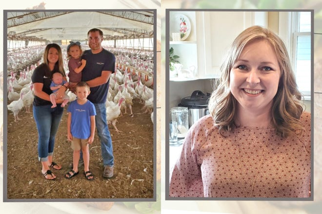 """Jared Achen, left, and Katie Olthoff are two Iowa turkey producers who combined their talents to help create a multi-vendor meat marketing platform called Chop Local. """"At the end of the day, the highest quality meat comes from the farmer who raised it or the butcher who cut it,"""" Olthoff says. The two are calling on agriculture to support """"a start-up culture"""" that encourages more direct marketing innovation."""