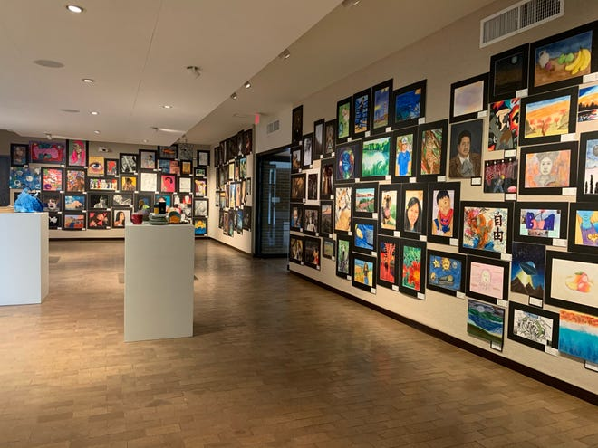 Some of the artwork featured in the 2021 Texas Panhandle Student Art Show, hosted at the Amarillo Museum of Art through May 20.