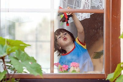 Protecting children and pets from window falls
