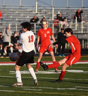Truman Kruckenberg is one of several freshmen that have come up big for the Gilbert boys' soccer program in 2021. Kruckenberg had an impressive assist to fellow freshman Isaac Weary for a goal during the second half of the Tigers' 3-1 victory over Carlisle Tuesday at Gilbert.