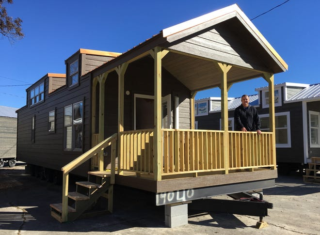 Allen Childs, owner of Tiny Houses of Georgia, marketed 400- to 600-square-foot homes at a small dealership on Greene Street. Mayor Hardie Davis is pushing to make accessory dwelling units legal under Augusta's zoning code.