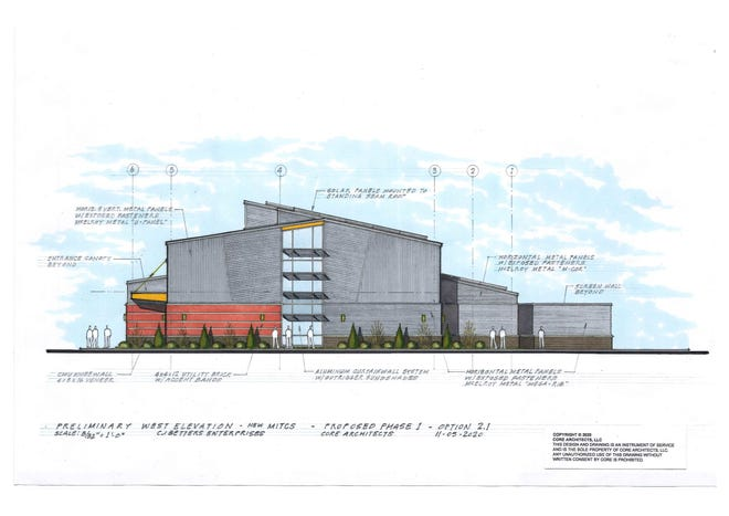 Architectural drawing for the Midland Innovation + Technology Charter School.