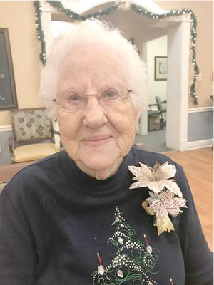 """Herma Porter was pleasantly surprised to receive an e-mail after launching her balloon with a note during """"Up, up and away day"""" at Hartmann Village in Boonville. Porter's balloon traveled over 700 miles, where a gentleman noticed the balloon while walking on the shore of Lake Superior in Michigan."""
