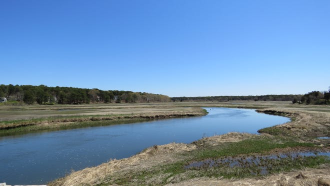 A waterway from bay to ocean before the Cape Cod Canal? A view from the Bridge Road bridge in Eastham.