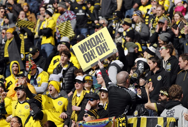 Crew fans in the Nordecke, shown here in a March 2020 game, said they were never given the opportunity to tap the brakes on the team's decision to rebrand.