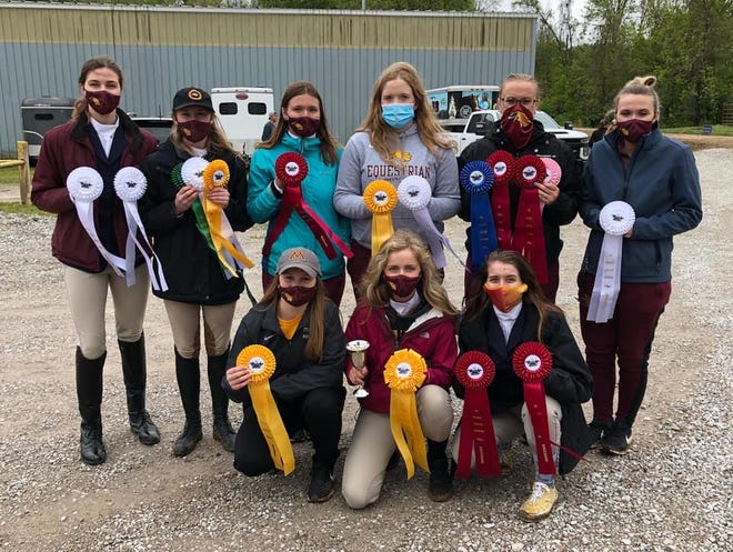 The Minnesota Crookston hunt seat team finished third at the Collegiate Equitation Celebration in Indiana this past weekend.