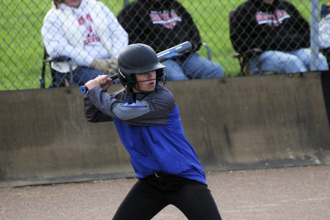 Sophomore Kendal Kenworthy came through with a clutch hit, driving in two runs for Cambridge during Tuesday's 6-5 victory over Sandy Valley in Division III sectional action at Cambridge City Park.