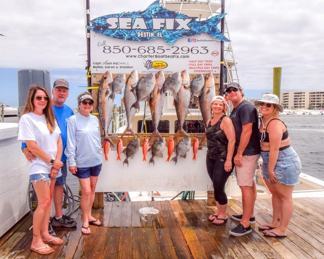 Capt. Chip Godwin on the Sea Fix took this group of anglers out this week for a big haul. They pulled in amberjack, mingo and triggerfish.