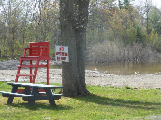 In mid-June, Palmyra Township Public Beach on Lake Wallenpaupack is expected to open to the public for its 63rd season. A few gulls had the beach to themselves, the morning of May 7.