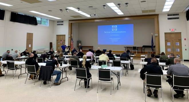 Close to 40 students attended the course, including state, county and local police officers, adult and juvenile probation officers and police dispatchers.