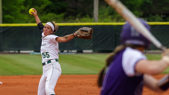 Jacksonville University pitcher Alyssa Bilodeau has broken the school's career strikeout record and leads the ASUN in that category, and ERA.