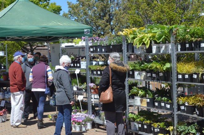 Dozens of shoppers enjoyed themarket's season opening on Wednesday, May 12.