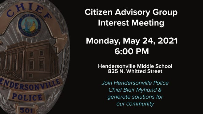 Police Chief Blair Myhand invites the Hendersonville community to get involved with their local police department. HPD is looking to create a Citizen Advisory Group.