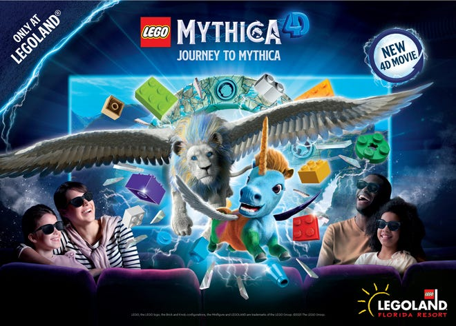 """The new movie """"Journey To Mythica"""" opens May 27 at Legoland Florida Resort."""