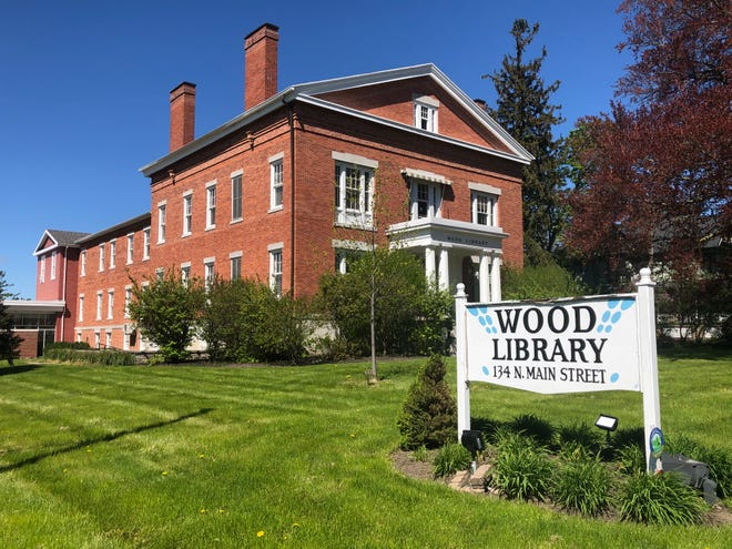 Wood Library in Canandaigua is looking to add an outdoor reading garden, which if approved would be located to the right of the building.