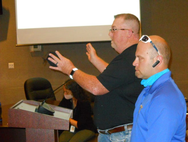 Chuck Dawn, and Sean Pennington talked to the board of zoning appeals. They hope to open a therapy center that will include horses in Oak Ridge.