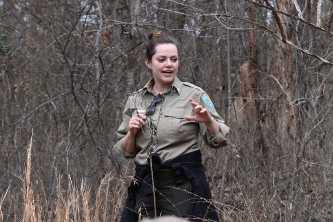 Angelina Stancampiano, senior naturalist coordinator for Oklahoma State Parks, is shown at Sequoyah State Park.