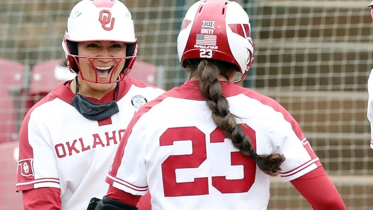 College softball: OU's Jocelyn Alo, OSU's Carrie Eberle earn top honors from Big 12