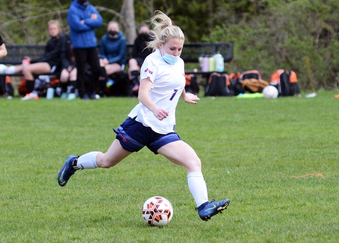 Boyne City's Inanna Hauger scored once and picked up two assists in a shutout win over Charlevoix.