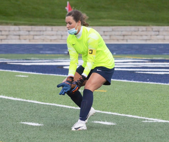 Kate Mumford earned another shutout win in goal for the Blue Devils, this time in 3-0 fashion over TC Central.